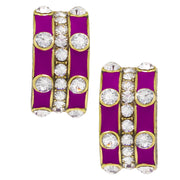 "HEIDI DAUS® ""Stackable Style"" Enamel & Crystal Earrings - Heidi Daus®"