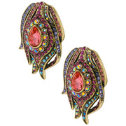 """Fire and Ice"" Crystal Button Earrings - Heidi Daus®"