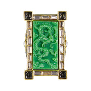 "HEIDI DAUS®""Chinoiserie Carving"" Crystal Rising Ring - Heidi Daus®"