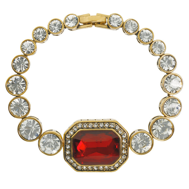 "HEIDI DAUS®""On Line"" Emerald Cut Crystal Layout Bracelet - Heidi Daus®"