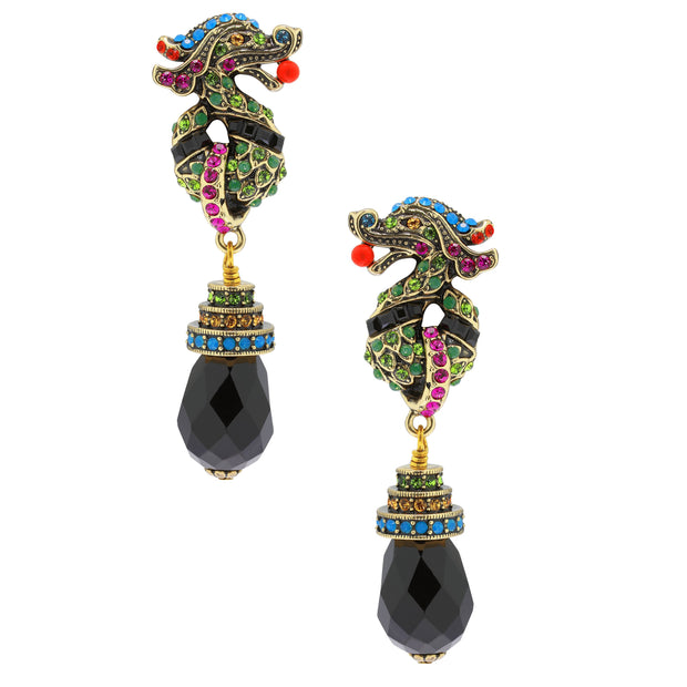 """Power Couple"" Swarovski Dragon Drop Earrings"