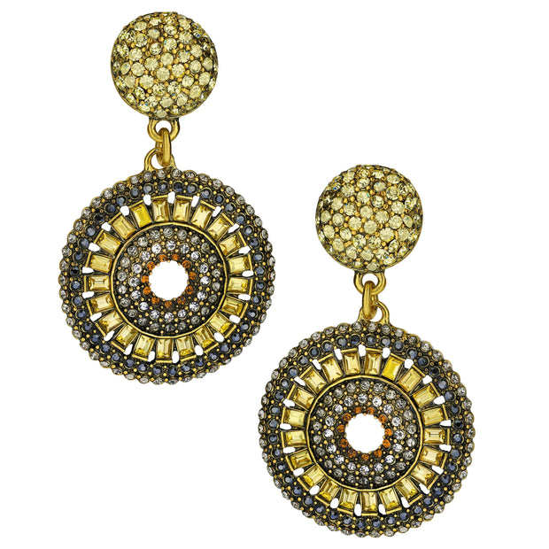 """Baguette Bliss"" Crystal Drop Earrings"