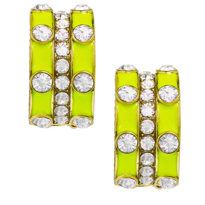 """Stackable Style"" Enamel & Crystal Earrings"