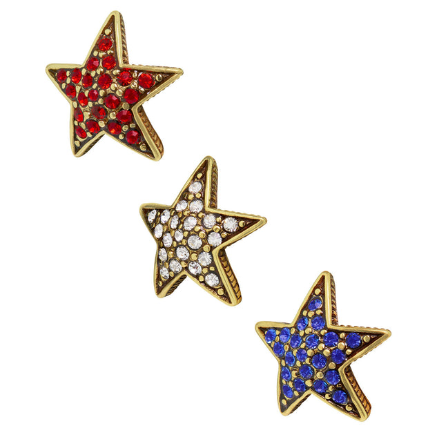 "HEIDI DAUS® ""Star Studded"" Crystal Star Earring Set - Heidi Daus®"