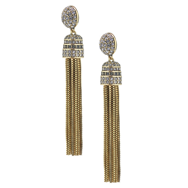 "HEIDI DAUS®""Old School Jewels"" Crystal Chain Earrings - Heidi Daus®"