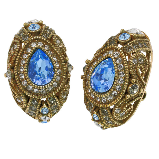 """It's Good To Be Queen"" Crystal Classic Button Earring - Heidi Daus®"