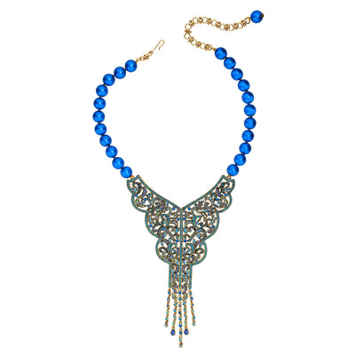 """Age Of Allure"" Beaded Crystal Deco Necklace"