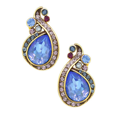 "HEIDI DAUS® ""Polished Pretty"" Crystal Button Earrings - Heidi Daus®"