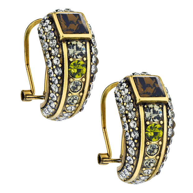 "HEIDI DAUS® ""Ice Princess"" Swarovski Deco Half-Hoop Earrings - Heidi Daus®"