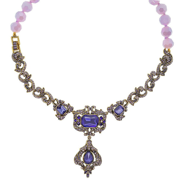 "HEIDI DAUS® ""Opposites Attract"" Crystal Beaded Necklace - Heidi Daus®"