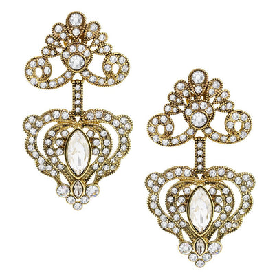 """Regal Rapture"" Crystal Drop Earrings"