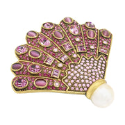 """Stunning Shell"" Crystal-Bead Shell Pin - Heidi Daus®"