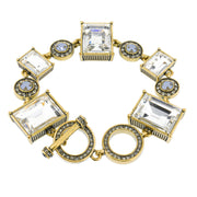 """Another Coupling"" Crystal Toggle Bracelet - Heidi Daus®"