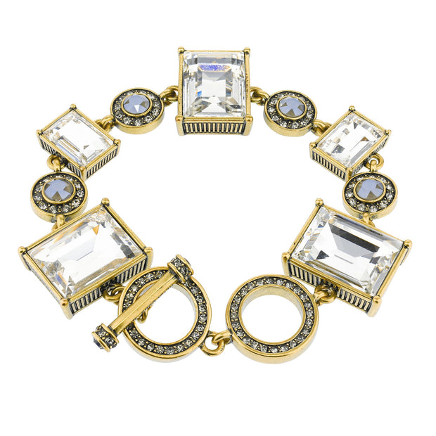 """Another Coupling"" Crystal Toggle Bracelet"