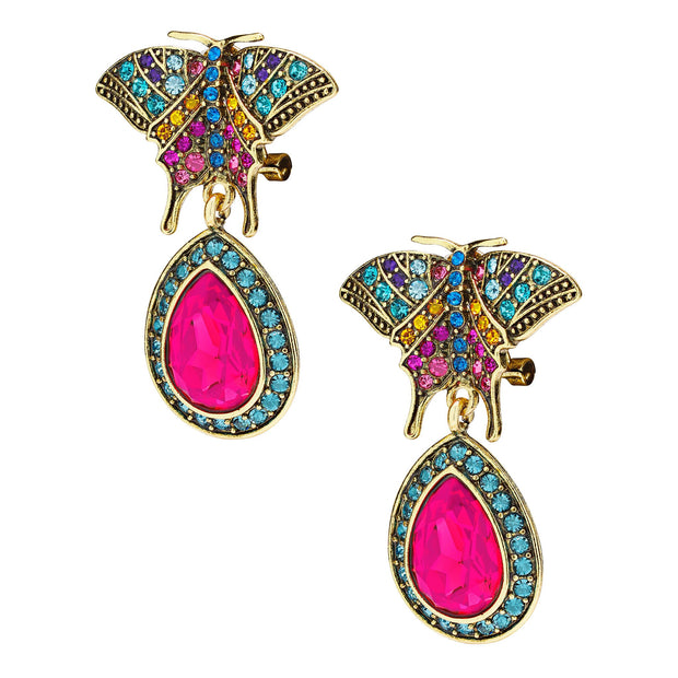 "HEIDI DAUS® ""Butterfly Fantasy"" Crystal Drop Butterfly Earrings - Heidi Daus®"