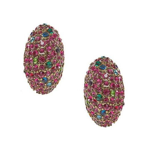 "HEIDI DAUS® ""Chic Stackable"" Swarovski Button Earrings - Heidi Daus®"