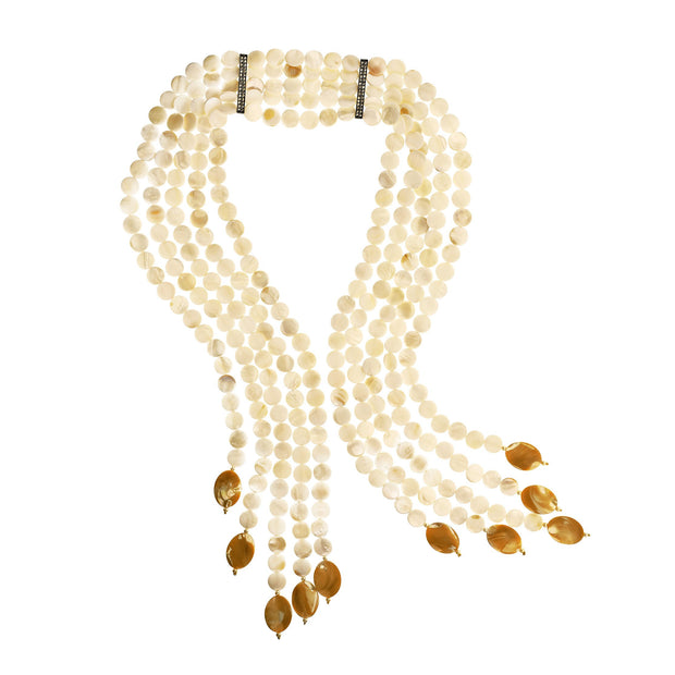 """Mother of Pearl"" Pearl Multi-Strand Necklace - Heidi Daus®"