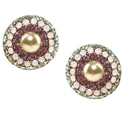 """Posh & Proper"" Swarovski Button Earrings"