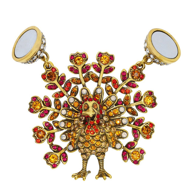 """Tom Turkey"" Crystal November Turkey Charm - Heidi Daus®"