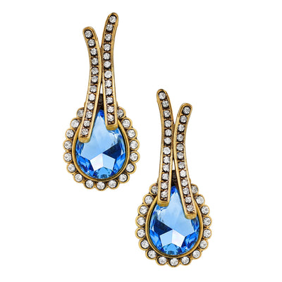 """Runway Chic"" Crystal Drop Earrings"