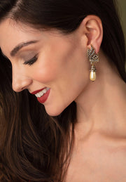 "HEIDI DAUS® ""A Touch of Class"" Pearl and Crystal Drop Earrings - Heidi Daus®"