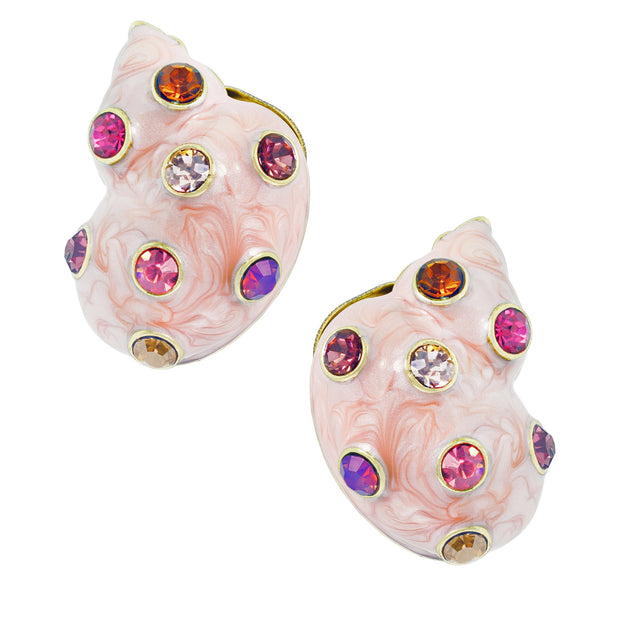 "HEIDI DAUS®""Oceana"" Enamel Crystal Button Earrings - Heidi Daus®"