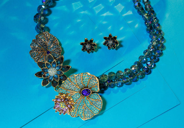 "HEIDI DAUS® ""Waterlily"" Crystal Beaded Floral Necklace - Heidi Daus®"