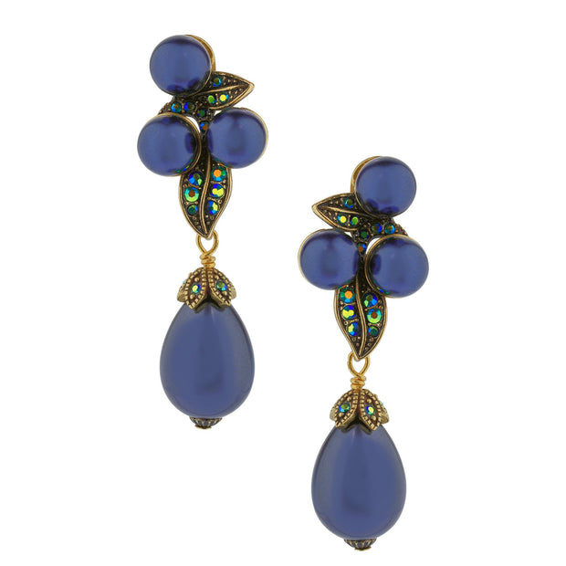 """Single Strand"" Beaded Drop Earrings - Heidi Daus®"