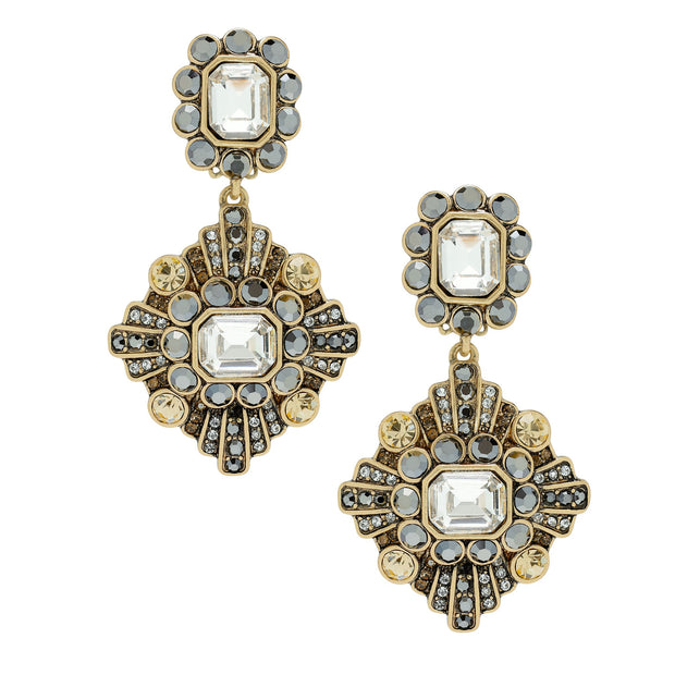 """Enchante"" Crystal Pendant Earrings - Heidi Daus®"