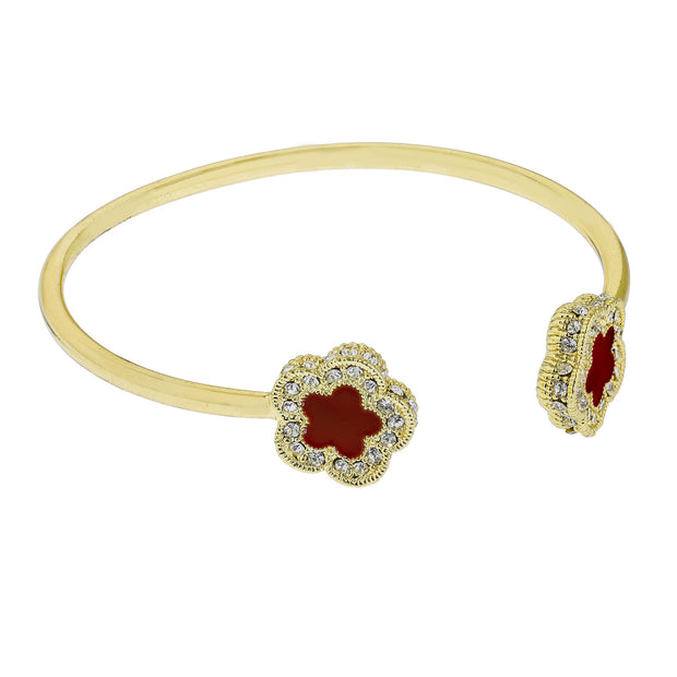 "HEIDI DAUS® ""Easy Does It"" Enamel & Crystal Cuff Bracelet - Heidi Daus®"