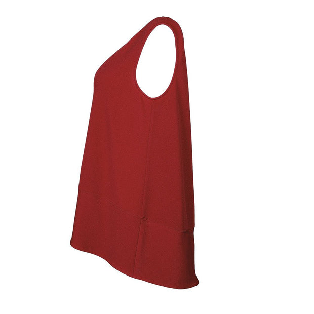 "HEIDI DAUS® ""Sleeveless Essentials"" Red on Red High-Low Tank - Heidi Daus®"