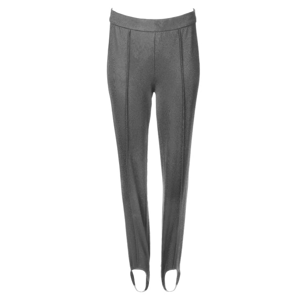 HEIDI DAUS® Town and Country Charcoal High Waisted Ponte-Jersey Stirrup Pant - Heidi Daus®