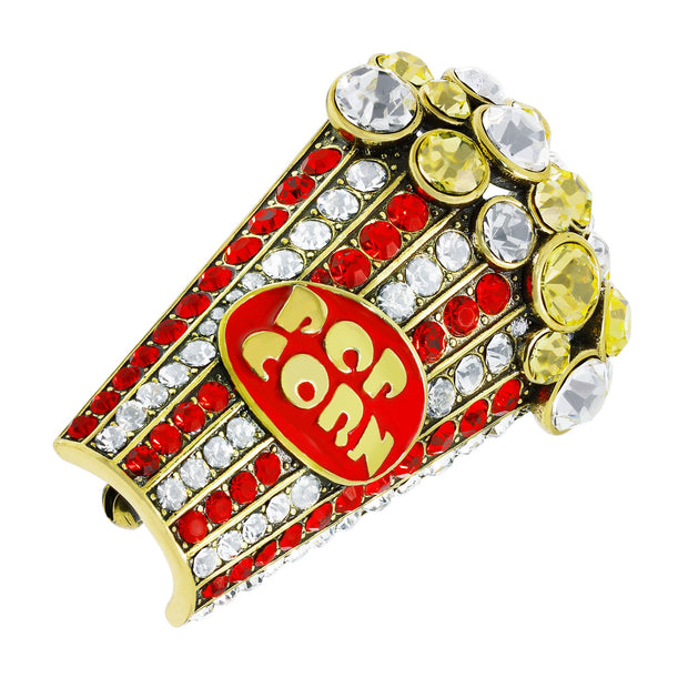 "HEIDI DAUS® ""Pop-Ular"" Enamel & Crystal Pop-Corn Pin - Heidi Daus®"