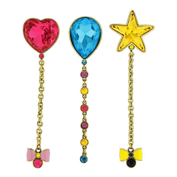 "Heidi Daus® ""Celebrate Good Times"" Enamel & Crystal 3 Piece Set Pin - Heidi Daus®"