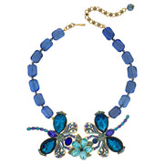 """Dazzling Damoiselle"" Crystal Dragonfly Necklace"