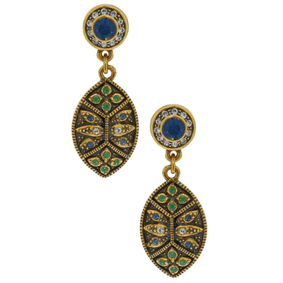"""Byzantine Beauty"" Crystal Deco Drop Earrings - Heidi Daus®"