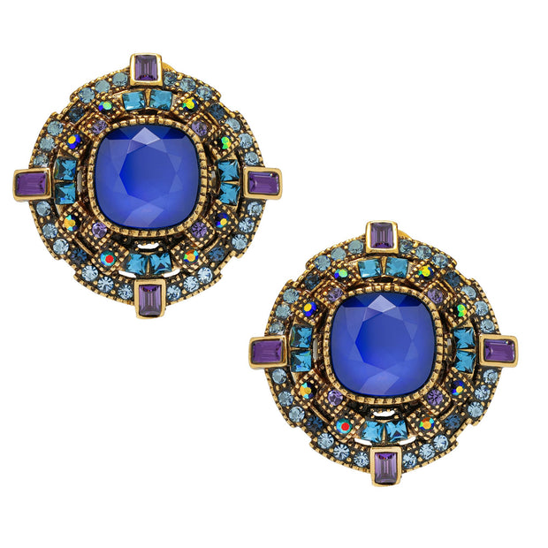 "HEIDI DAUS® ""The Regent"" Crystal Button Earrings - Heidi Daus®"