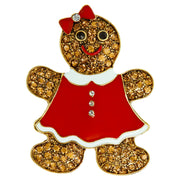 "HEIDI DAUS®""Gingerly Gorgeous"" Gingerbread Girl Pin - Heidi Daus®"