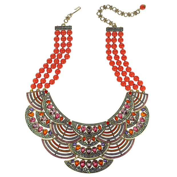"""Icing On The Cake"" Beaded Crystal Statement Necklace - Heidi Daus®"