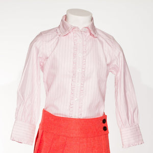 547a1e4538e7cd Claudia-pink and black striped blouse with claudine collar and frowns