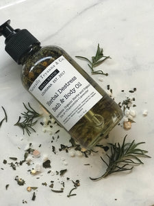 "Herbal ""DeStress"" Bath + Body Oil"