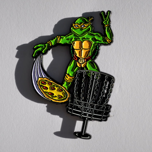 TMNT Michelangelo Disc Golf Pin