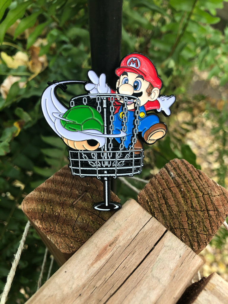 Mario disc golf pin