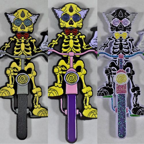 Snare Bicycle Day Pins