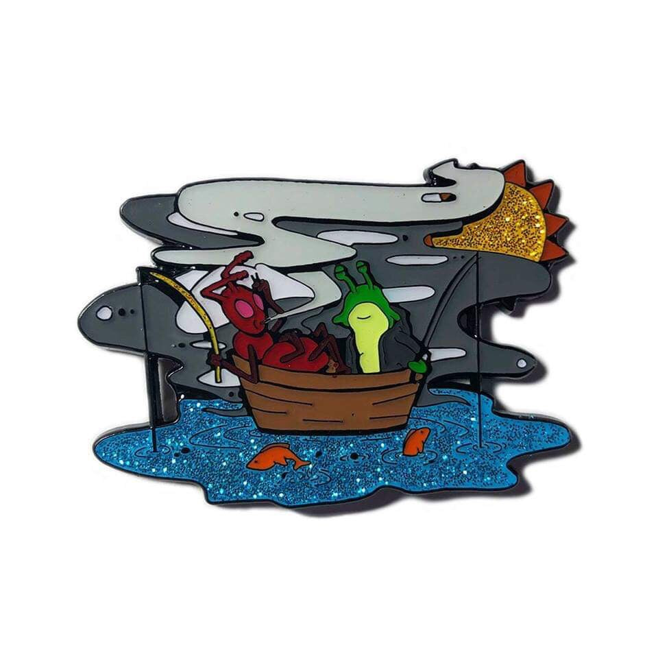 Atmosphere Fishing Blues pin