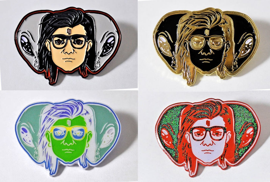 Skrillex inspired pins