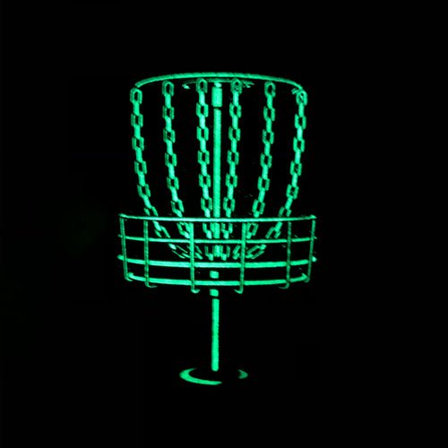 Glow in the dark Disc Golf basket pin