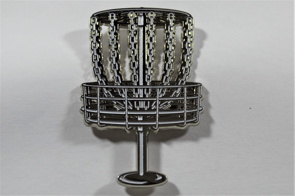 Silver Disc Golf Basket Pin