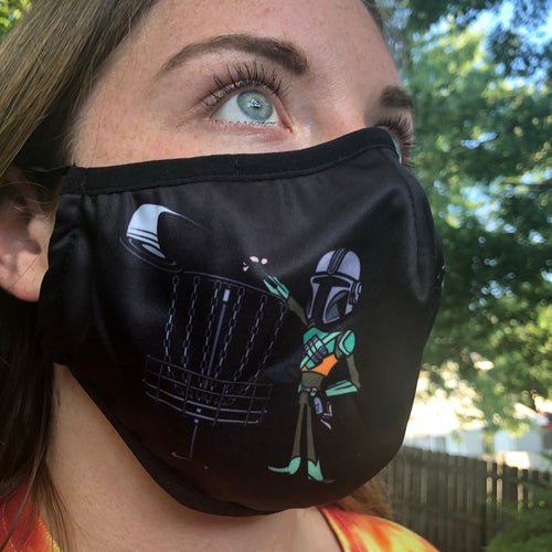 Mandalorian disc golf mask