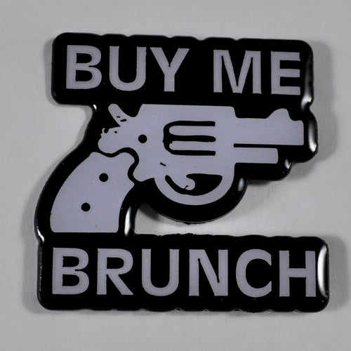 Hunter s Thompson buy me brunch pin
